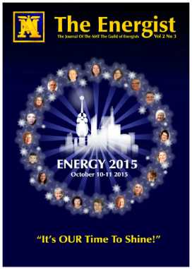 Learn more about Energist Magazine - Vol.2 No.3 - Summer 2015